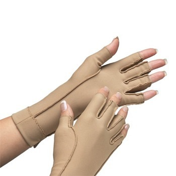 Isotoner Therapeutic Gloves Open Finger, X-Small