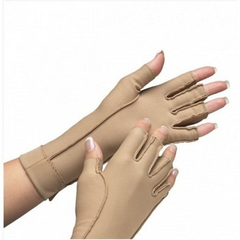 Isotoner Therapeutic Gloves Open Finger, Medium