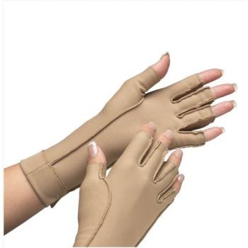 Isotoner Therapeutic Gloves Open Finger, Medium